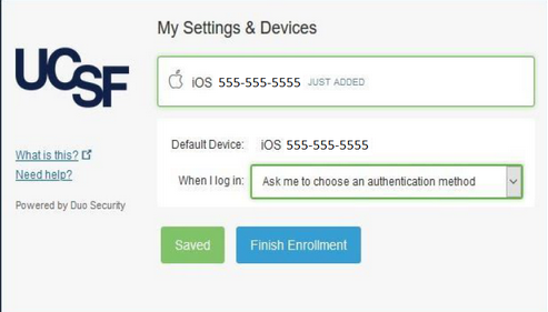 Multi Factor Authentication Duo Ucsf It