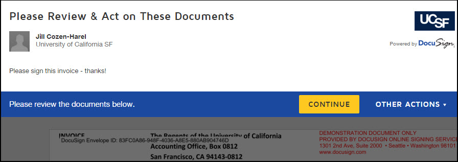 screenshot of new review document initial screen