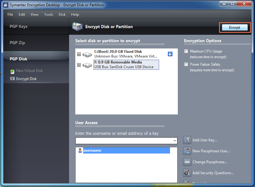 Windows Symantec Encryption Desktop Pgp Encrypt External