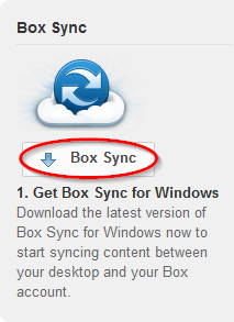 Latest version of Box Sync install link