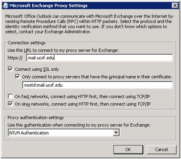 Outlook 2007 Configuration It Ucsf Edu