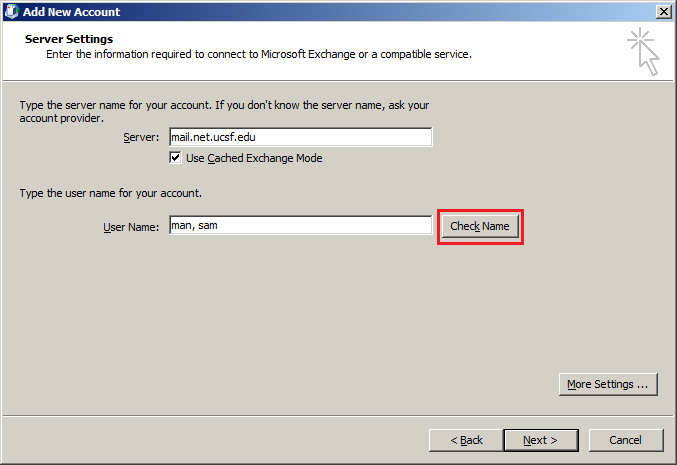 how to find domain username in outlook 2010