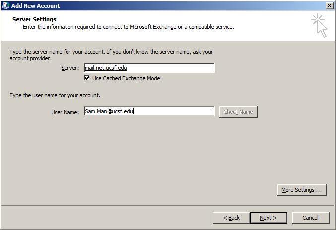Outlook 2010 Configuration It Ucsf Edu