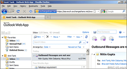 Outlook Web App 2010 New Features | it ucsf edu