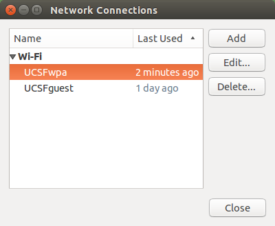 network connections dialog