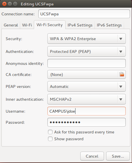 UCSFwpa Instructions - Linux   it ucsf edu