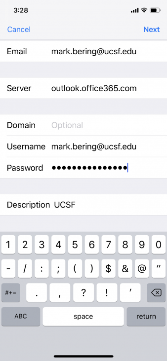 Ucsf email outlook iphone