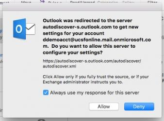 outlook for mac auto-discover image