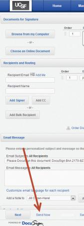 Image of Send Now button described above