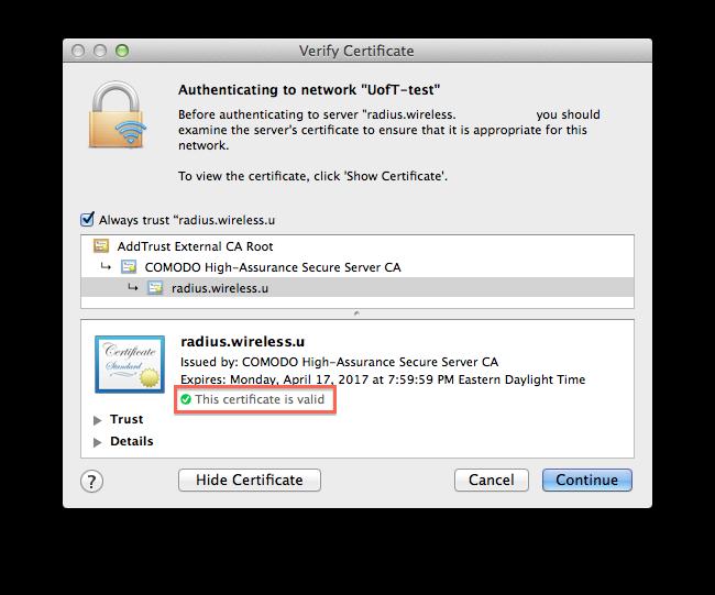 Invalid Wireless Certificates | it.ucsf.edu